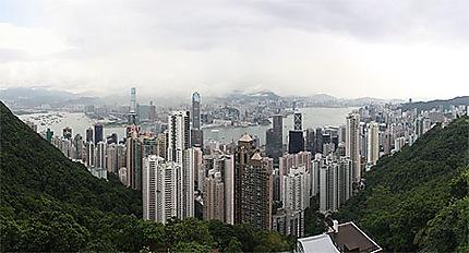 Hong Kong - Vue générale depuis le Peak Victoria