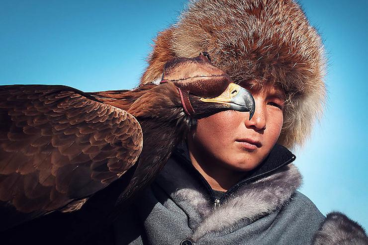 Jeune aiglier kazakh, Kazakhstan