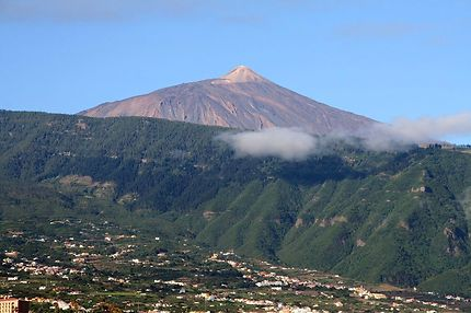 Vue du Teide depuis un jardin de Puerto de la Cruz