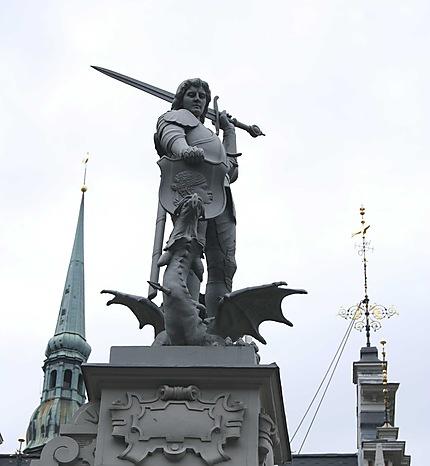 Riga : place de l'Hôtel de ville