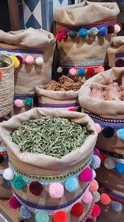 Herbes et épices à Marrakech
