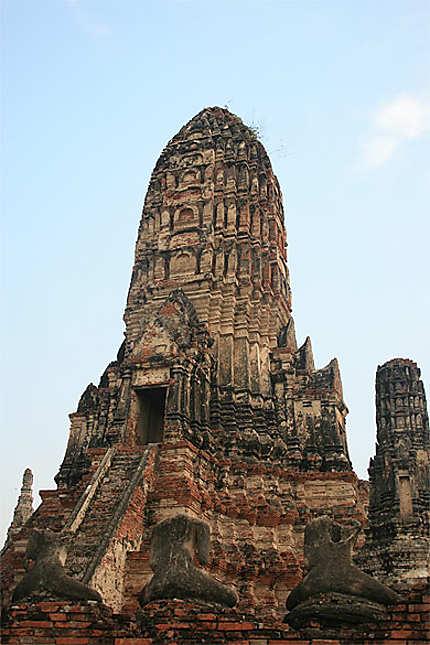 Superbe temple d'Ayutthaya