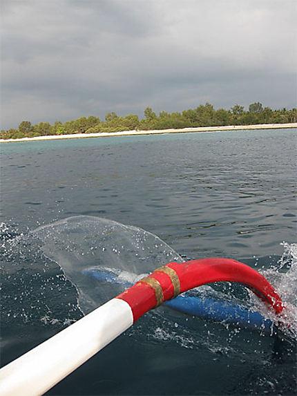 Gili Trawangan vue du bateau