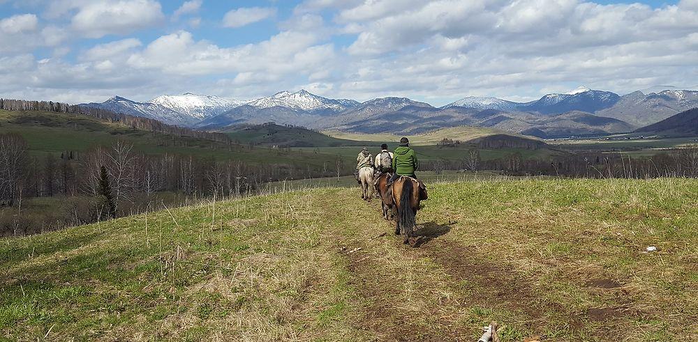 Trek à cheval dans les monts Altaï, Kazakhstan