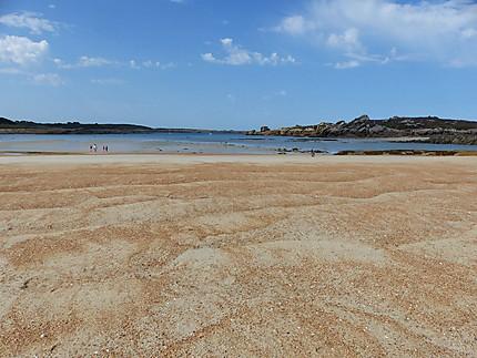 Une plage aux tons chauds