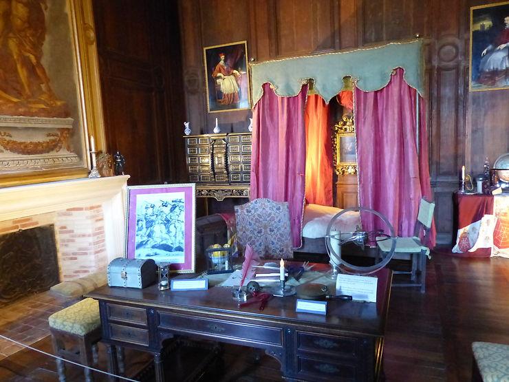 La chambre de Richelieu au Château de Condé, Picardie