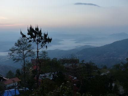 Lever de soleil sur Nagarkot