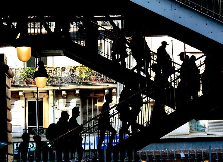 Les escaliers du métro
