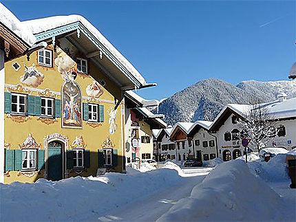 Belles maisons de Mittenwald