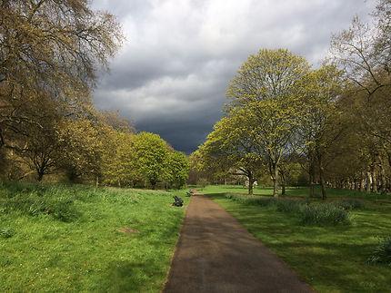 Ciel d'orage à Hyde Park