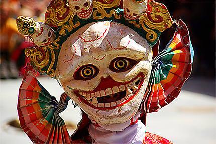 Masque de danseur à Thiksey