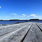 L'un des nombreux ponton sur le Lac Siljan