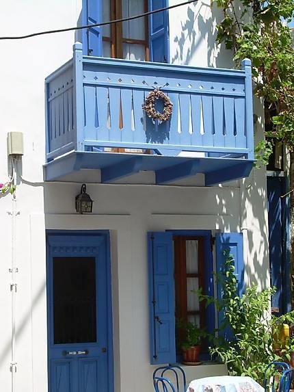 Maison bleue, Mandraki, Nisyros