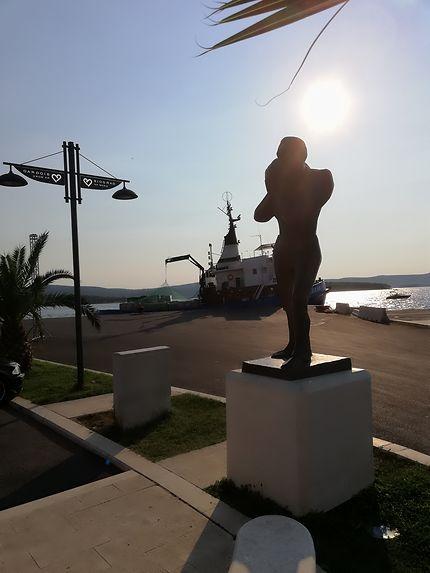 Sur la marina de Biograd na Moru, Croatie