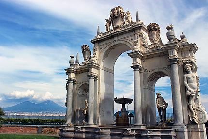 La fontaine du géant à Naples