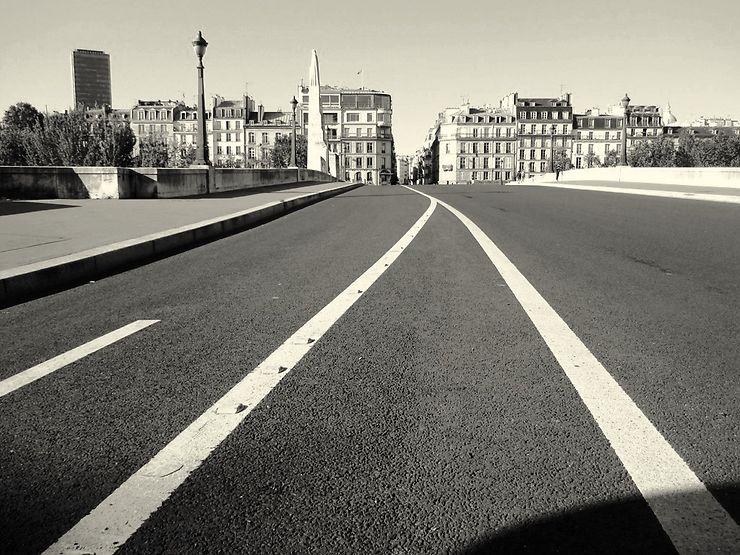 Paris sans voitures, pont de la Tournelle