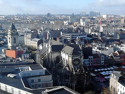 Vue aérienne de Bruxelles