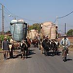 Convoi exceptionnel sur la route de Bétafo