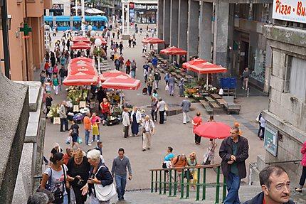 Marché Dolac à Zagreb