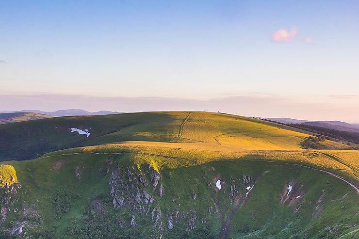 Coucher de soleil sur le Col du Wormspel, Lorraine