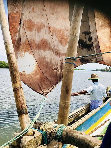 Catamaran srilankais à Negombo
