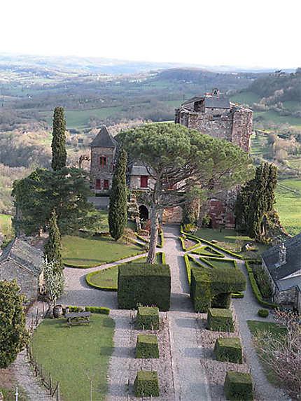 Le château de Turenne depuis la tour