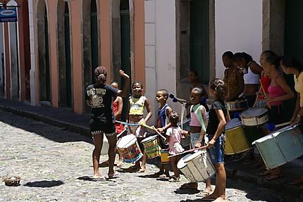 Répétition de Carnaval à Salvador