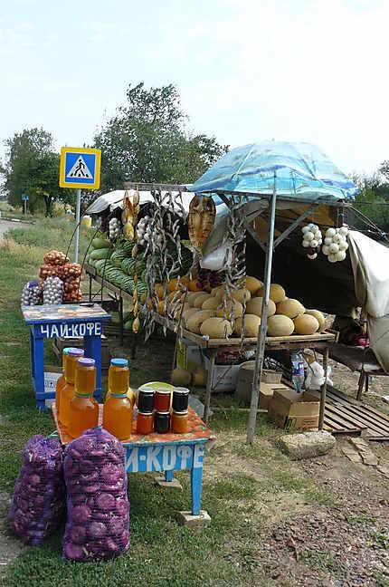 Miel, oignons, poisson sec, et arbouse de Crimée