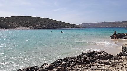 Plage blue lagoon