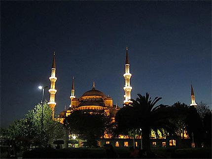 La Mosquée Bleue la nuit