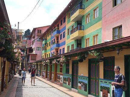 Rue colorée de Guatapé