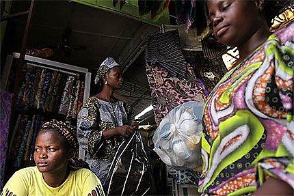 Dans le marché Dantokpa, Cotonou