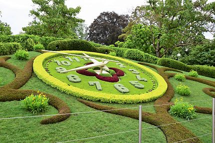 L'horloge fleurie de Genève