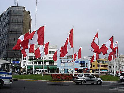 Drapeaux du Pérou