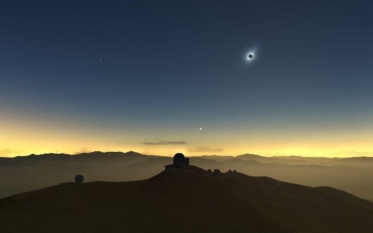 Evénement - Eclipse solaire totale dans le nord du Chili le 2 juillet