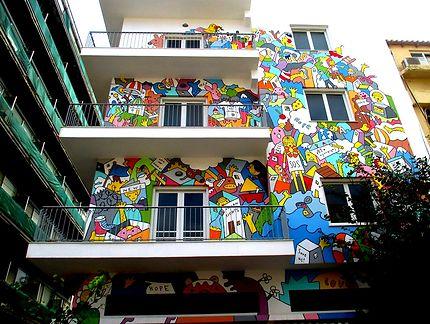 Immeuble décoré, rue Chatzimichali, Héraklion