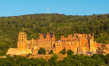 Heidelberg au soleil couchant