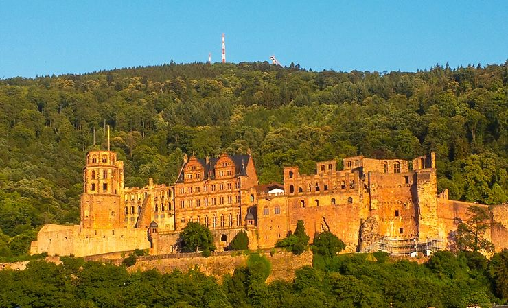 Heidelberg au soleil couchant, Allemagne