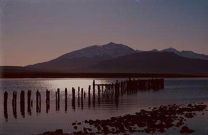 Coucher de soleil à Puerto Natales
