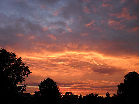 Beau Ciel En Feu Coucher De Soleil Malbork Grande