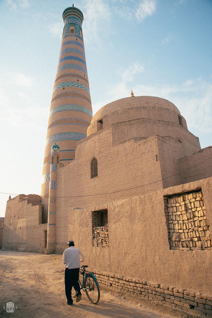 Fin de journée à Khiva, Ouzbékistan