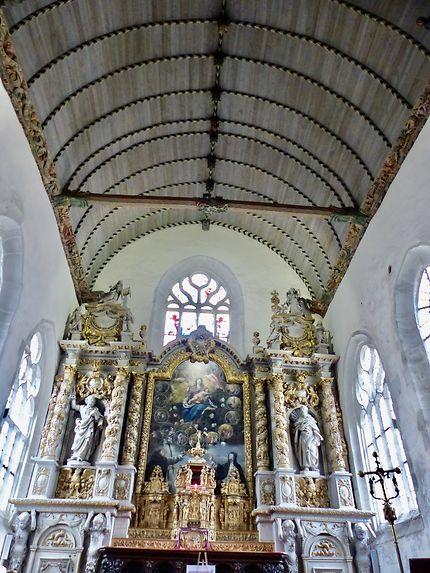 Intérieur de Notre-Dame de Croatz Batz Roscoff