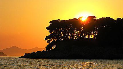 Couché de soleil sur Dubrovnik
