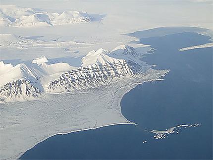 Svalbard vu d'avion