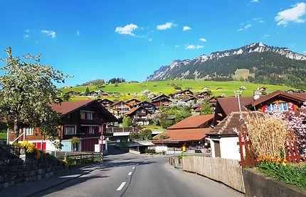 Village montagnard, Sigriswil en Suisse