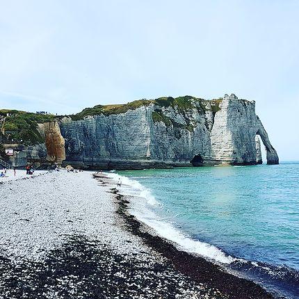 La plage d Etretat