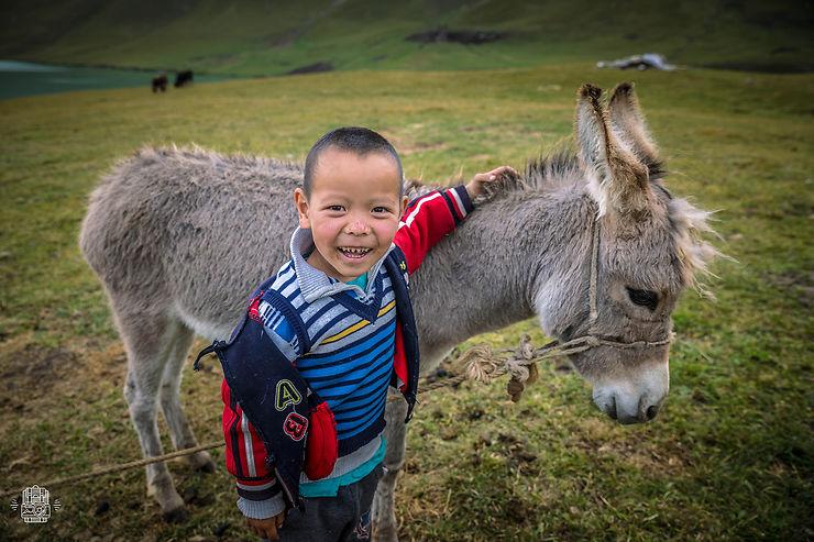 Rencontre près du Song Kul, Kirghizistan