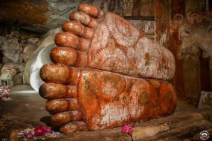 Les pieds de Bouddha à Dambulla