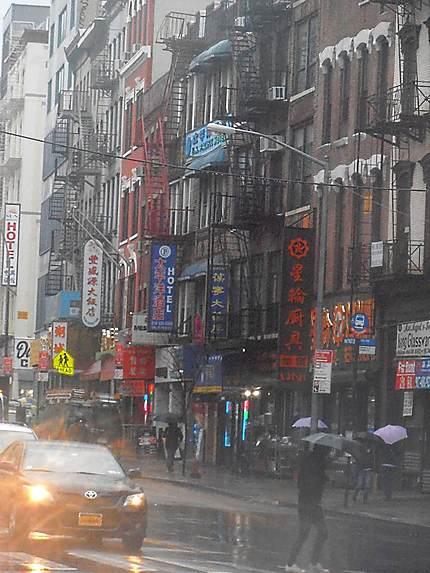 Chinatown under the Rain
