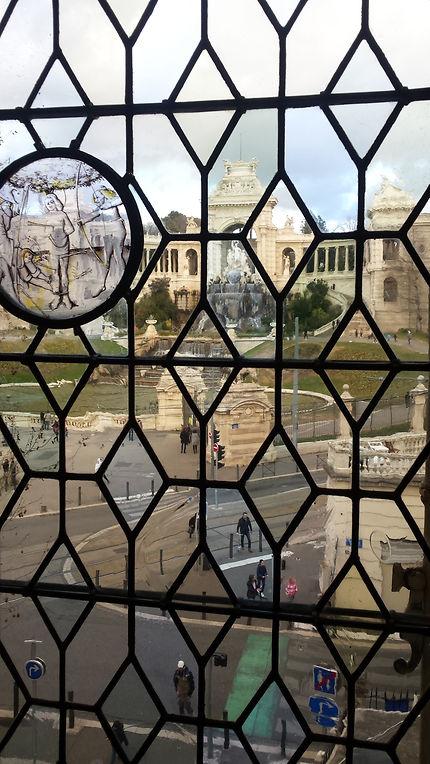 Vue du Palais Longchamp